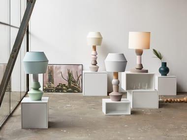 Lampada modulare in legno CUBIT | Lampada da tavolo