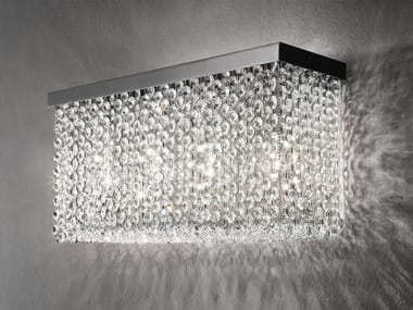 Wall lamp with crystals CUBO A LONG