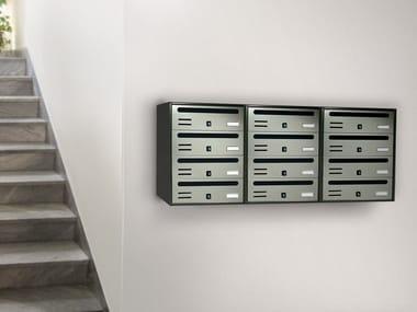 Wall-mounted galvanized plate mailbox CUBO COMPOSTO RIVISTA