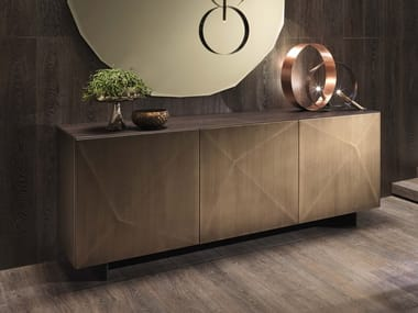 Steel and wood sideboard with doors CUBRIC | Sideboard with doors