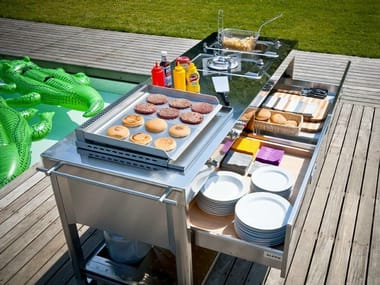Gas Electric outdoor kitchen with Grill OUTDOOR 190   Outdoor kitchen