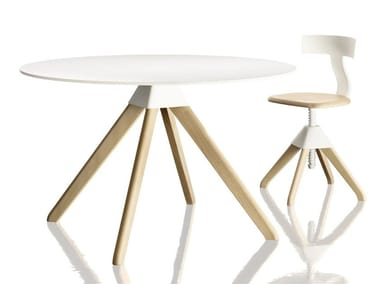 Round beech table CUCKOO