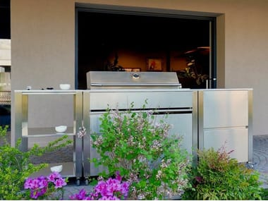 Stainless steel outdoor kitchen with Barbecue CUN OUTDOOR KITCHEN BARBECUE