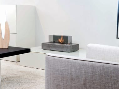 Outdoor table-top bioethanol Concrete and cement-Based materials fireplace CUNEO