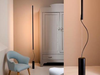 Lampada da terra a LED a luce diretta in alluminio CUPIDO | Lampada da terra in alluminio