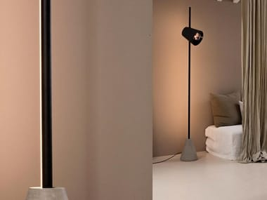 LED direct light aluminium floor lamp CUPIDO | Floor lamp