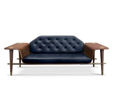 Tufted leather sofa CURTIS | Sofa