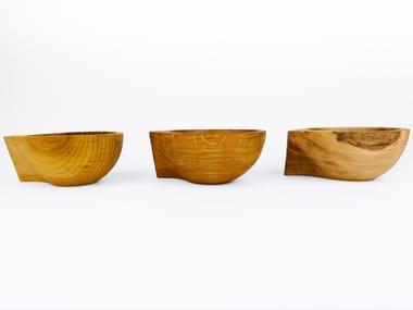 Wooden serving bowl CURVE