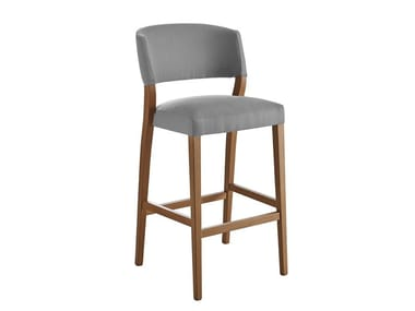 Upholstered solid wood barstool CURVY | Stool