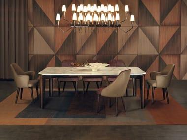 Rectangular marble dining table CURZIO