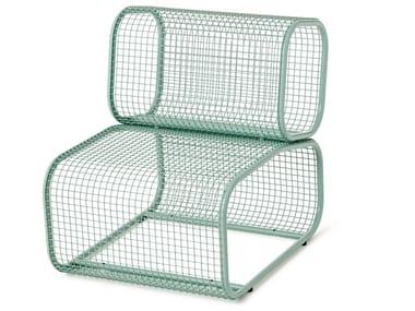 Sectional modular aluminium armchair CUSHY