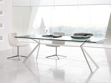 Rectangular steel table CUT | Rectangular table