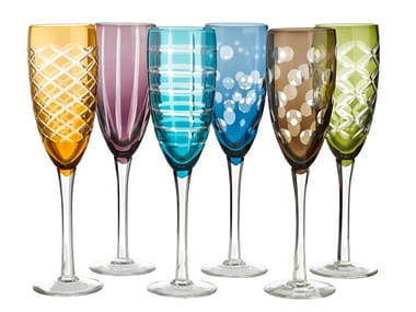 Glass champagne glass CUTTINGS | Champagne glass