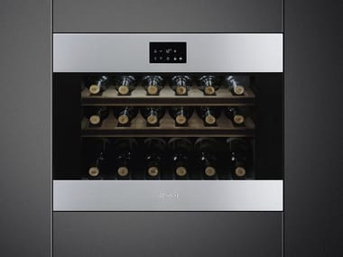 Built-in Glass and Stainless Steel wine cooler Class A + CVI318-WX2