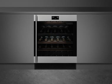 Built-in Glass and Stainless Steel wine cooler Class A CVI338-WX2