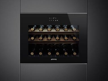 Built-in glass wine cooler Class A + CVI618-WNX2