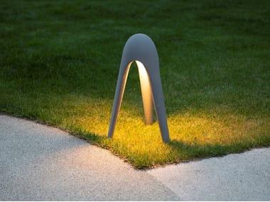 Paletto luminoso a LED in cemento fibrorinforzato CYBORG OUTDOOR