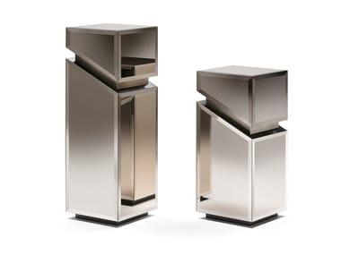 Mirrored glass pedestal CYRANO | Pedestal