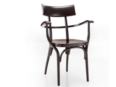 Beech chair with armrests CZECH | Chair with armrests