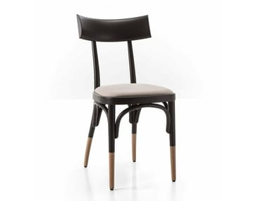 Beech chair with integrated cushion CZECH | Chair with integrated cushion