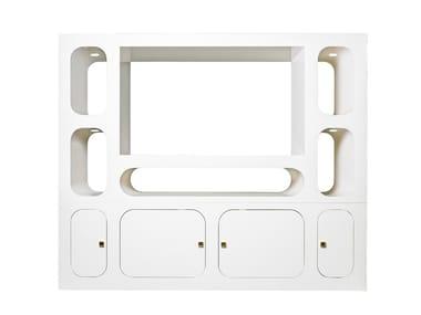 Aluminium TV cabinet CAROSELLO