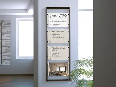 Indoor aluminium sign Cartello segnalatore a parete