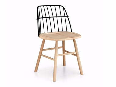 Steel and wood chair STRIKE S | Chair