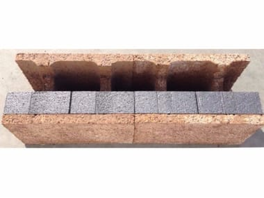 Wood-concrete loadbearing block / Thermal wood-concrete block H block