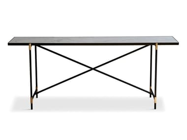 Rectangular powder coated steel console table Console table