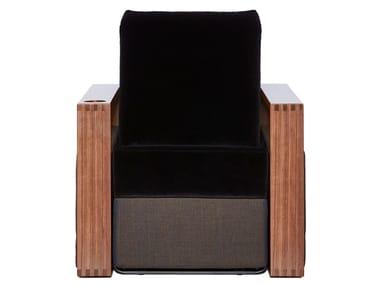 Massage fabric armchair with motorised functions COPENHAGEN