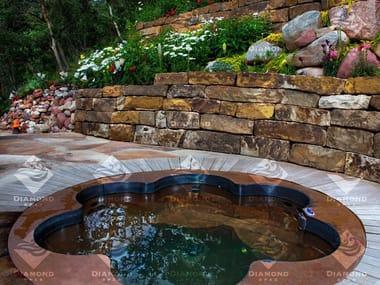 SPA浴缸 Copper Flower Shaped Hot Tub