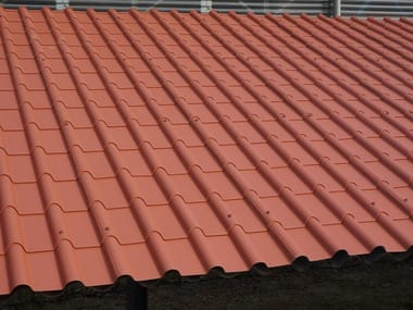 Metal sheet and panel for roof COPPO ROMA