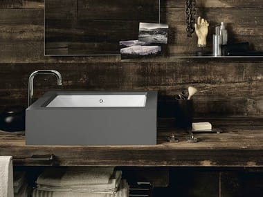 Countertop rectangular Corian® washbasin CORIAN® BASIN REFRESH
