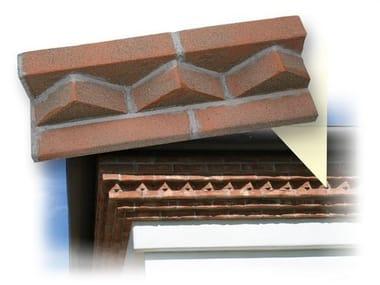 Elemento decorativo isolante per sistema a cappotto termico Cornice sottotetto mattoni faccia vista