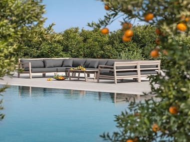 Modular wooden sofa COSTES | Modular sofa