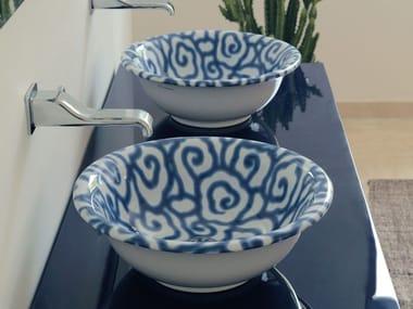 Lavabo da appoggio in ceramica decorato DÉCO BOLL | Lavabo da appoggio