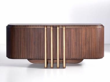 Zebrano sideboard with doors D 1591 | Sideboard