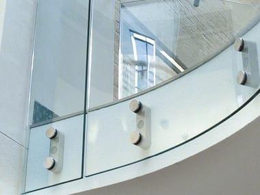 LED Window railing D LINE BLOK EASY GLASS