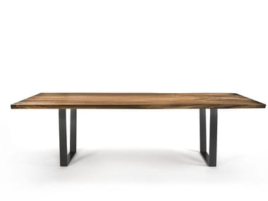 Rectangular solid wood table D.T. PLANK TABLE