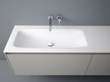 Corian® washbasin with integrated countertop D3 | Washbasin with integrated countertop