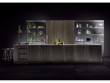 Fitted kitchen with island D90/12-D90/TP