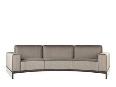 Curved 3 seater fabric sofa DA VINCI   3 seater sofa