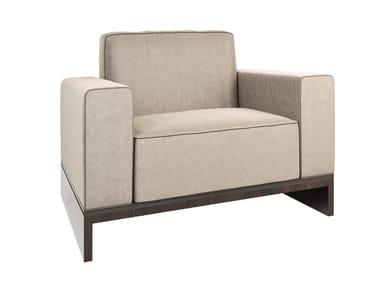 Fabric armchair with armrests DA VINCI   Armchair