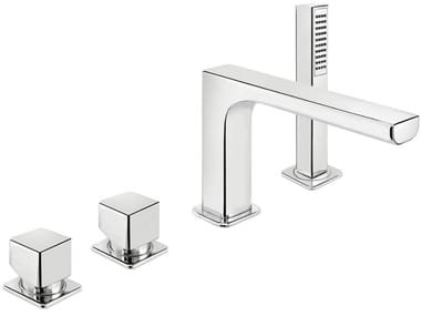 4 hole bathtub mixer with hand shower DAILY CUBE 45 - 4531404