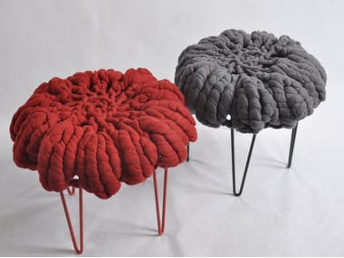 Wool felt stool DAISY | Wool felt stool