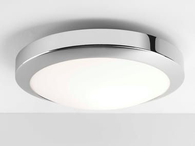 Glass and steel wall lamp / ceiling lamp DAKOTA 300 | LED ceiling light