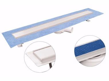Canale e griglia in acciaio inox per doccia DAKUA+ DUO