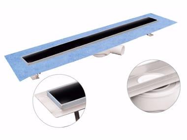 Canale e griglia in acciaio inox e vetro per doccia DAKUA+ GLASS-N