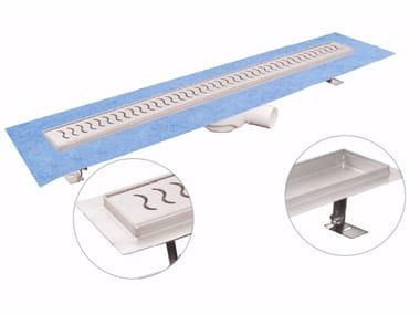 Canale e griglia in acciaio inox per doccia DAKUA+ WAVE