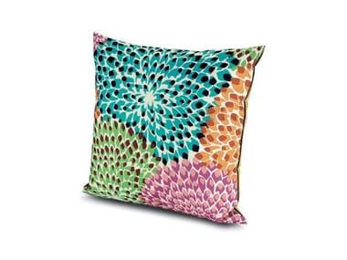 Cuscino quadrato in tessuto DALIA RAINBOW | Cuscino quadrato